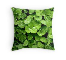 Clovers (available in iphone, ipod, & ipad cases) Throw Pillow