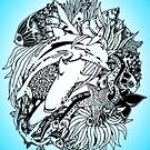 Sea Ocean Animals Art Design by BluedarkArt