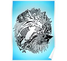 Sea Ocean Animals Art Design Poster