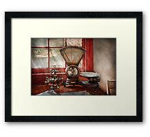 Mailman - The mail scale  Framed Print