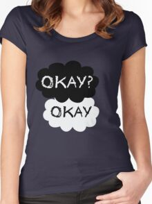 Okay? Okay. Tfios Shirt Women's Fitted Scoop T-Shirt