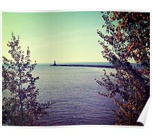 Lake Superior Break Wall  Poster