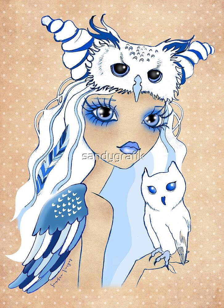 Owl Duchess ~ Sketch by sandygrafik