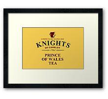 KNIGHTS Of Camelot Tea Framed Print