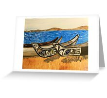native kayaks in washington Greeting Card