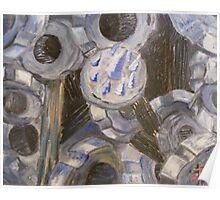 Gears in blue Poster