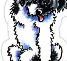 Clingy Black Parti Havanese Sticker