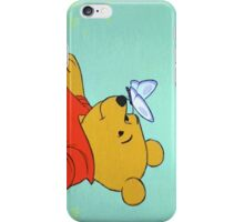 winnie the pooh and a butterfly iPhone Case/Skin