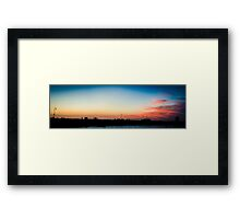 Melbourne Panorama Framed Print