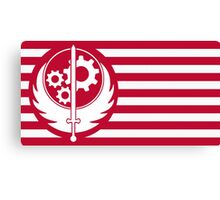Fallout 4 Brotherhood of Steel Red Flag Canvas Print