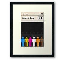 Reservoir Dogs Modernist Book Cover Series  Framed Print