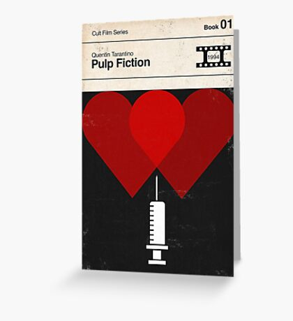 Pulp Fiction Modernist Book Cover Series  Greeting Card