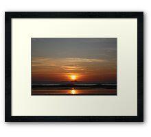 double sun Framed Print