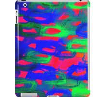 NIGHT LIFE - Bold Neon Abstract Watercolor Painting Wild Hot Pink Royal Blue Whimsical Pattern iPad Case/Skin