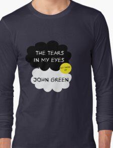 Tfios John Green Cover parody shirt. Long Sleeve T-Shirt