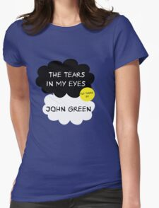 Tfios John Green Cover parody shirt. Womens Fitted T-Shirt