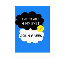 Tfios John Green Cover parody shirt. Art Print