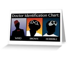 Doctor Identification Chart Greeting Card