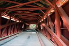 Inside the Hillsgrove Covered Bridge by Gene Walls