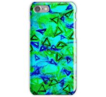 TECHNO VIBE Collaboration Piece, Bold Colorful Abstract Watercolor Painting Music Rhythm Art iPhone Case/Skin