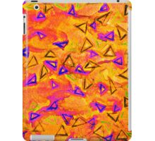 TECHNO VIBE 2 Collaboration Piece, Bold Colorful Abstract Watercolor Painting Music Rhythm Fine Art iPad Case/Skin