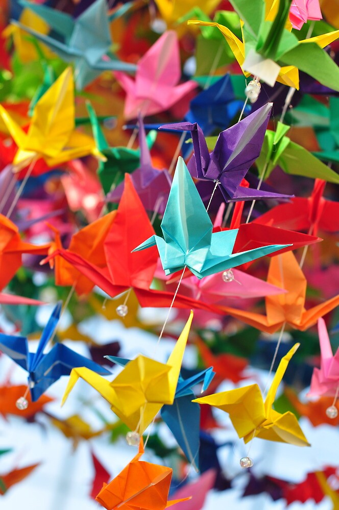 Paper Cranes by whitehursta