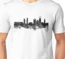 Riyadh skyline in black watercolour  Unisex T-Shirt