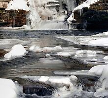 Icy Flow Below Murray Reynolds Waterfall by Gene Walls