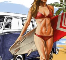 VW Kombi Beach Design Sticker