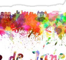 Rio de Janeiro skyline in watercolor Sticker