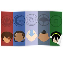 Avatar the last airbender Flat Art Poster