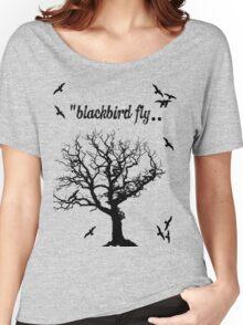 Black Bird Fly Women's Relaxed Fit T-Shirt