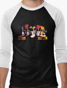 Mighty Morphin Power Rangers Men's Baseball ¾ T-Shirt