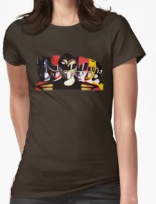 Mighty Morphin Power Rangers Womens Fitted T-Shirt