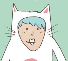 The cat costume Sticker