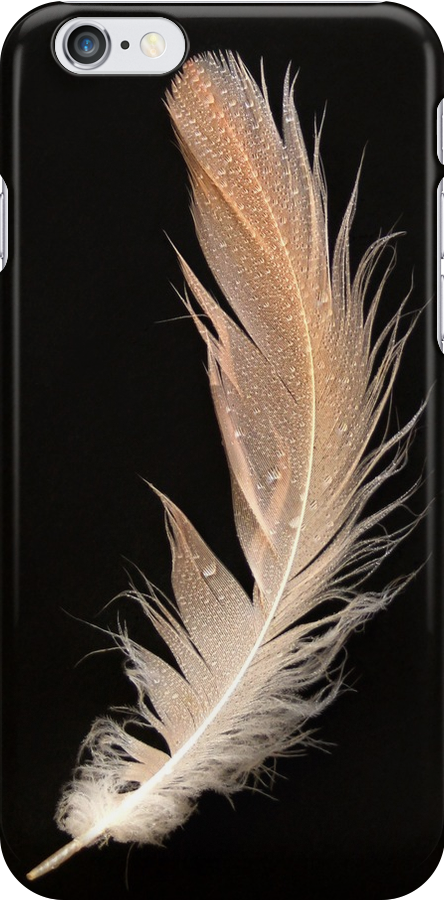 Flamingo feather    -     i-phone case by Lyn Evans