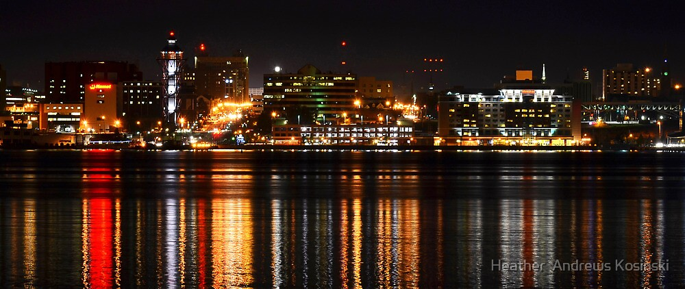 """Erie Pa Skyline"" by Heather Andrews Kosinski"