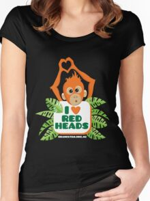 I heart (love) redheads  Women's Fitted Scoop T-Shirt