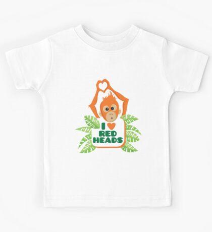 I heart (love) redheads  Kids Tee