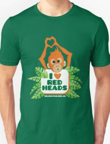 I heart (love) redheads  T-Shirt