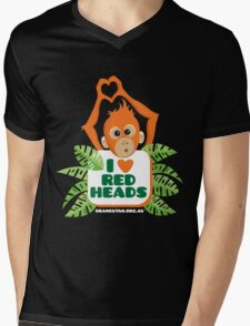 I heart (love) redheads  Mens V-Neck T-Shirt