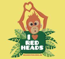 I heart (love) redheads  One Piece - Short Sleeve