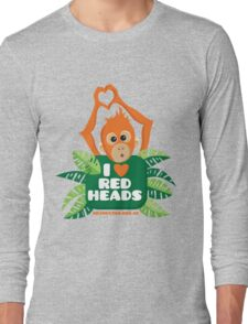 I heart (love) redheads  Long Sleeve T-Shirt