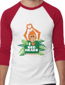 I heart (love) redheads  Men's Baseball ¾ T-Shirt