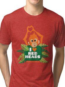 I heart (love) redheads  Tri-blend T-Shirt