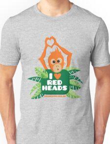 I heart (love) redheads  Unisex T-Shirt