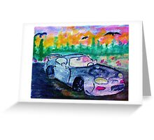 A sporty car, watercolor Greeting Card