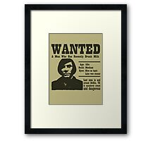 Wanted: A Man Who Has Recently Drunk Milk Framed Print