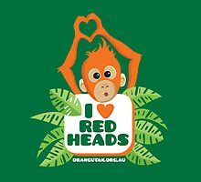 I heart (love) redheads baby orangutan ipad by The Orangutan Project