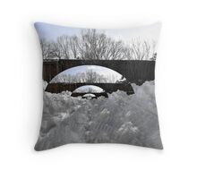 Snow Bridges Throw Pillow